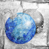 Earth and moon in a form of christmas balls — Stock Photo