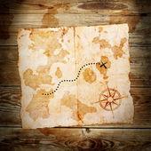 Vieille carte au trésor — Photo