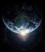 Realistické planety země ve vesmíru — Stock fotografie