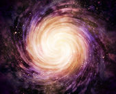 Spiral galaxy in space — Stock Photo