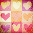 Abstract grunge background with hearts — Stock Photo #19592325