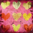 Abstract grunge background with hearts — Stock Photo #19592345