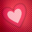 Stock Photo: Love background with hearts