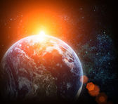 Realistic planet earth in space — Stock Photo