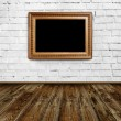 Empty frame in grunge room — Stock Photo