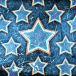 Grunge background with stars — 图库照片