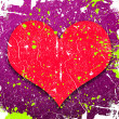 Abstract background with heart - Stock Photo