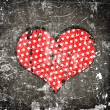 Abstract grunge background with hearts - Stock Photo