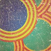 круги гранж-фон — Стоковое фото