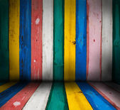 Colorful wooden wall background — Stock Photo