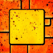 Abstract squares on grunge background — Stock Photo #23044910