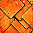 Stock Photo: Abstract squares on grunge background