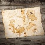 antiguo mapa del tesoro — Foto de Stock   #23046684