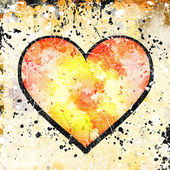 Abstract background with heart — Stock Photo