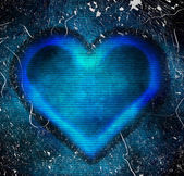 Abstract blue heart — Foto Stock