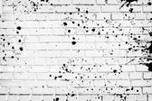 Closeup of white brick wall — Stock Photo