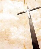 Cross on vintage background — Stock Photo
