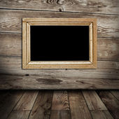 Empty frame in vintage room — Stock Photo