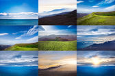 Collage of landscapes — Stock Photo