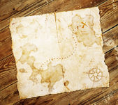 Antigo mapa do tesouro — Foto Stock