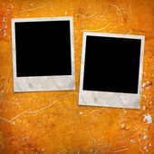 Photo frames on grunge background — Stock Photo