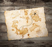 Old treasure map — Stock Photo