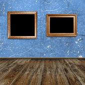 Two golden frames — Stock Photo