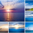 Stock Photo: Collage of landscapes