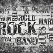 Grunge rock music poster  — Foto Stock