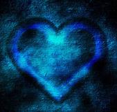 Abstract blue heart — Stock Photo