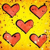 Rood hart op grunge achtergrond — Stockfoto