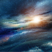Illustration of space with multiple stars — Stock Photo
