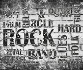 Grunge rock music poster — Stock Photo