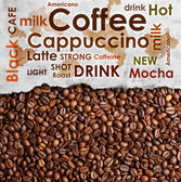 Sorts of coffee background — Stock Photo