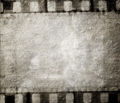 Vintage background with film flame — Stock Photo
