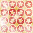Grunge background with stars in circles — Stock Photo