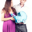 Young pregnant couple — Stock Photo