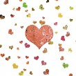Abstract grunge background with hearts — Stock Photo