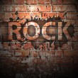 Grunge rock music poster — Stock Photo