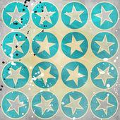 гранж-фон с звездами в кругах — Стоковое фото