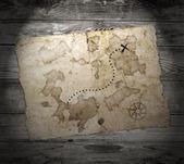 Stará mapa pokladů — Stock fotografie