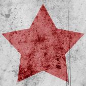 Stella rossa su uno sfondo grunge — Foto Stock