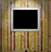 Vintage frame on striped background — Stock Photo