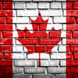 Grunge Canada flag with stains — Stock Photo