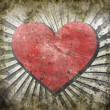 Grunge heart — Stock Photo