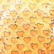 Hearts on grunge background — Stock Photo