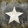White star on grunge background — Stock Photo