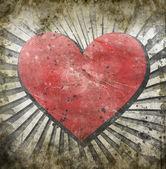 Grunge heart — Stock Photo