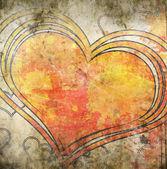 Grunge heart illustration — Stock Photo
