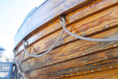 Wooden part of boat — Stock Photo